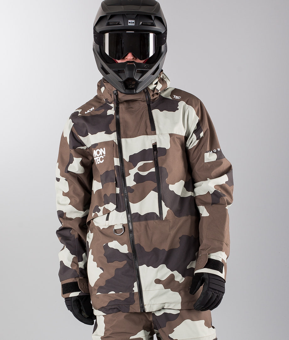 Montec Mount Snowmobile Jacket Earth Camo