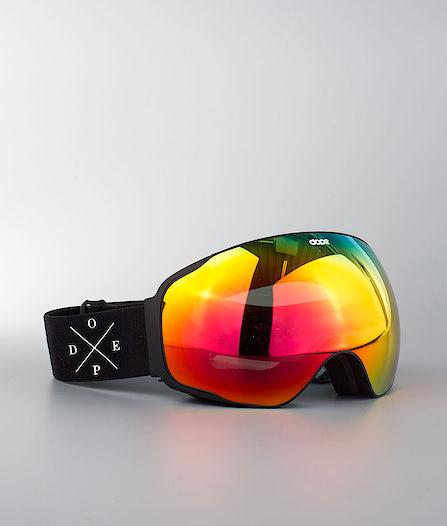 a529993d876 Dope Sphere 2X-UP Ski Goggle Black W Black Red Mirror