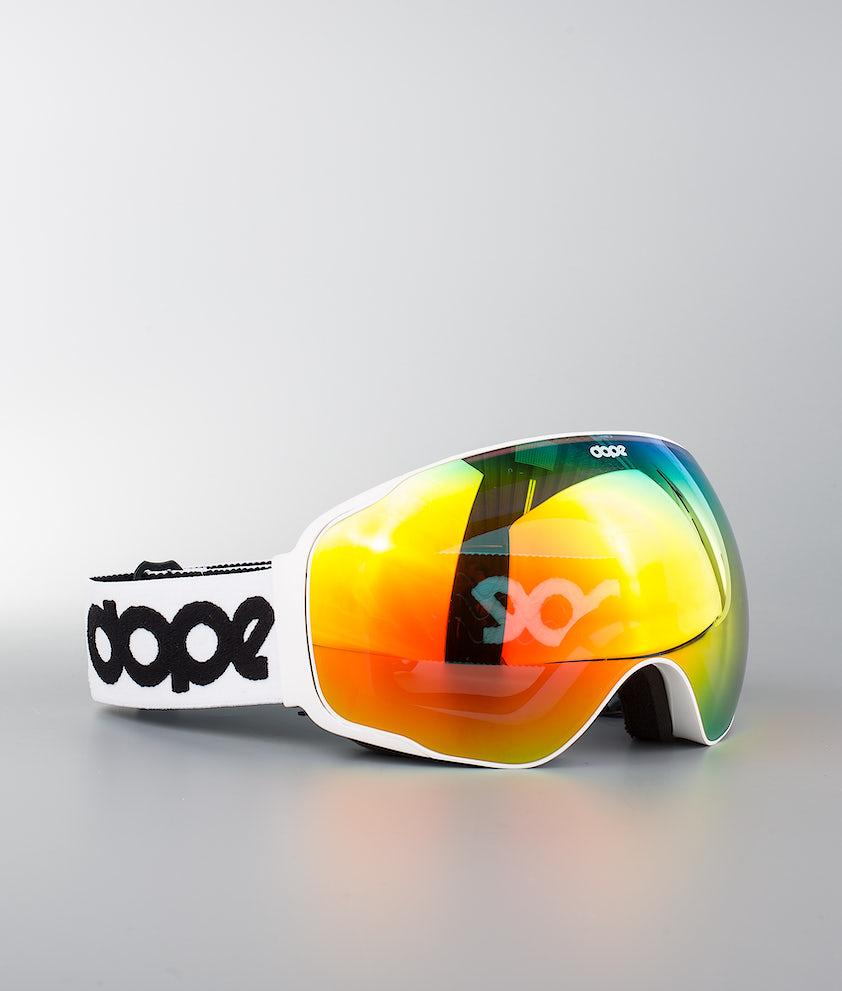 Dope Sphere OG Masque de ski White W/White Red Mirror