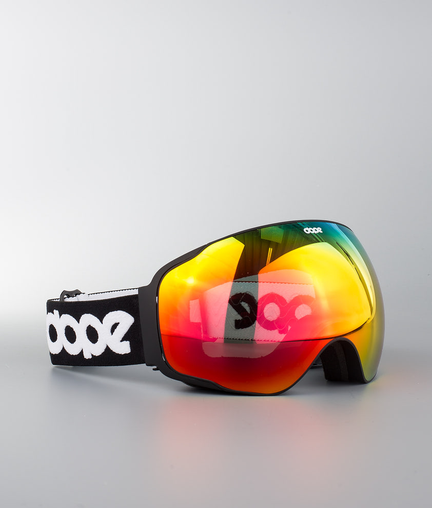 Dope Sphere OG Ski Goggle Black W/Black Red Mirror