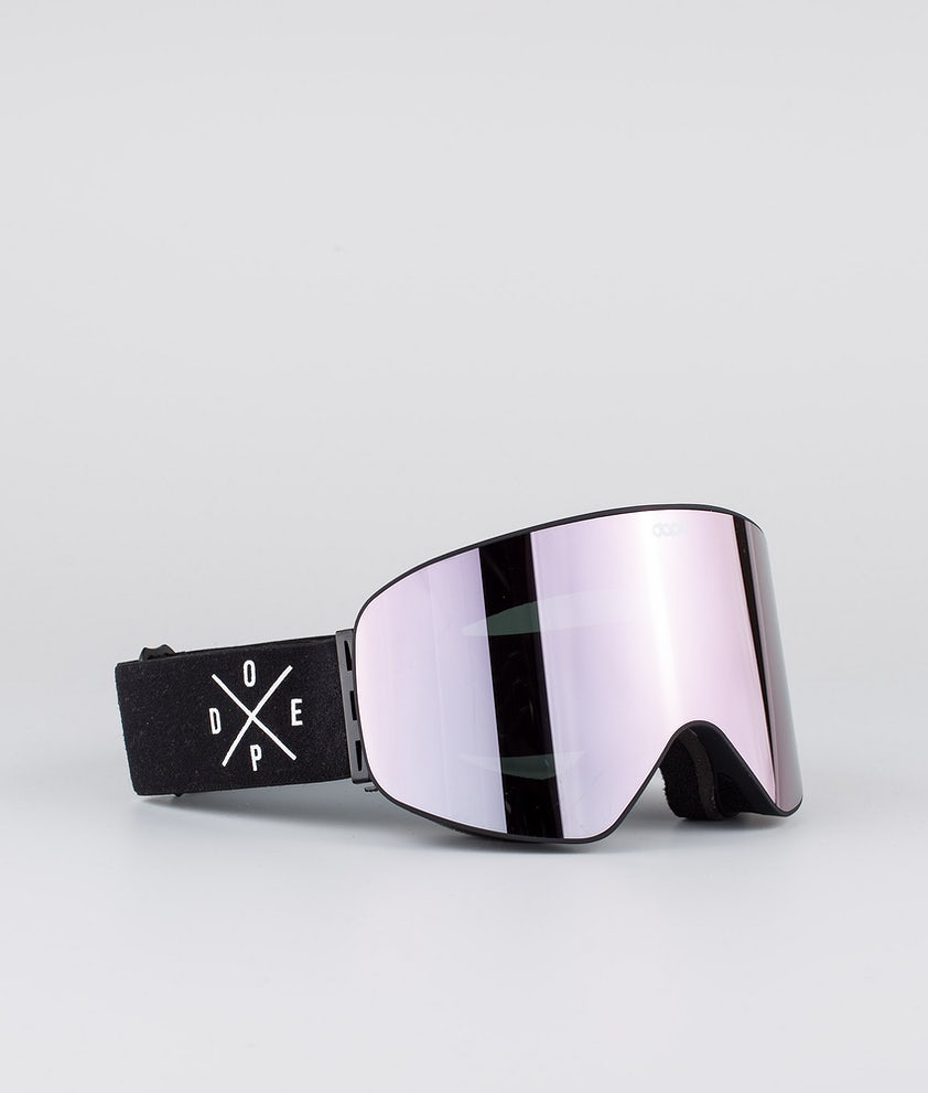 Dope Flush 2X-UP Ski Goggle Black W/Black Champagne
