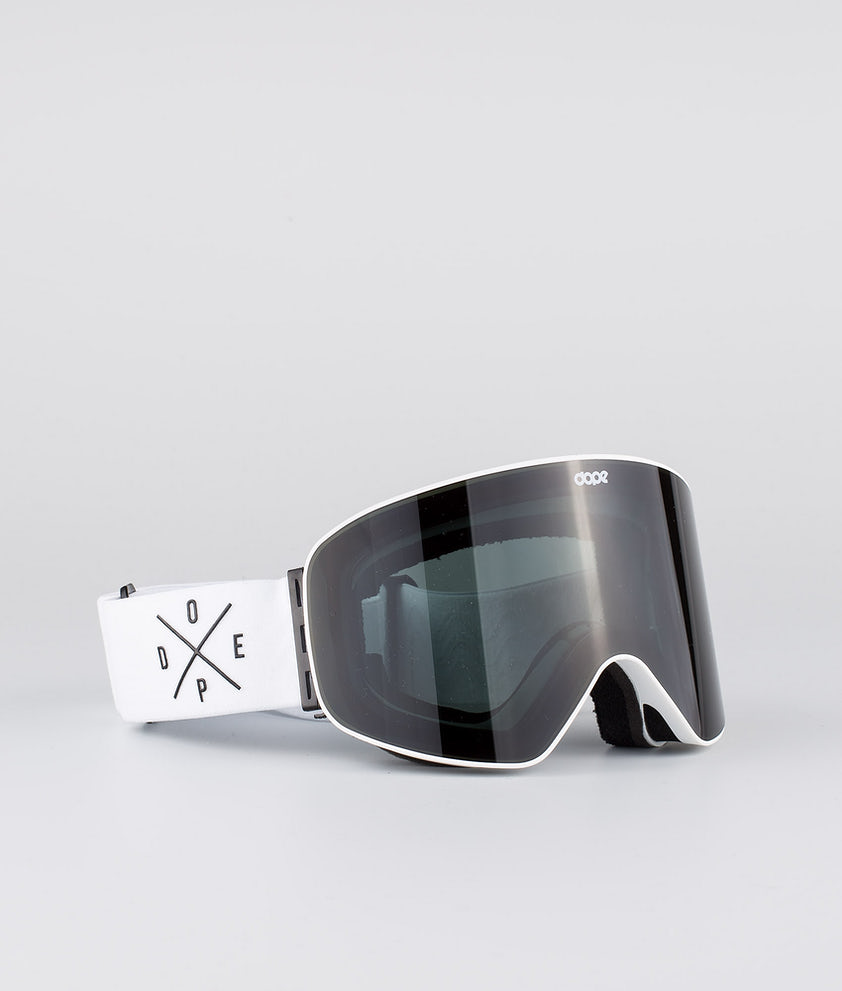 Dope Flush 2X-UP Ski Goggle White W/White Black