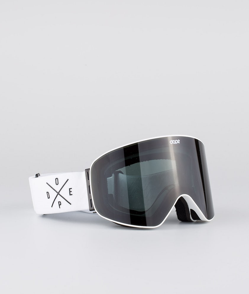 Dope Flush 2X-UP Skibrille White W/White Black