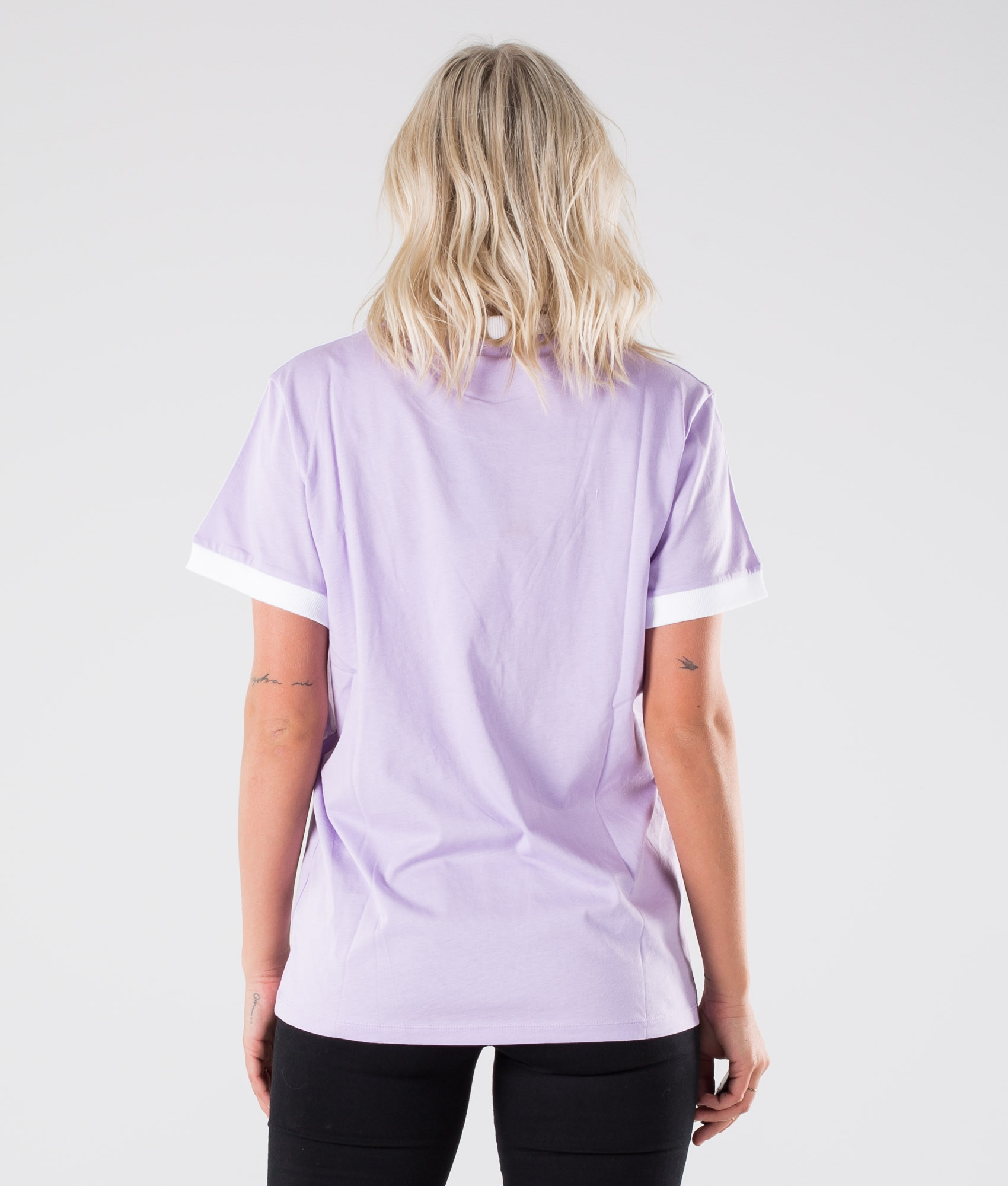 Adidas Originals 3 Stripes T shirt Purple Glow