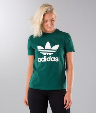 klasyczny wyprzedaż resztek magazynowych rozmiar 7 Adidas Originals Trefoil T-shirt Collegiate Green