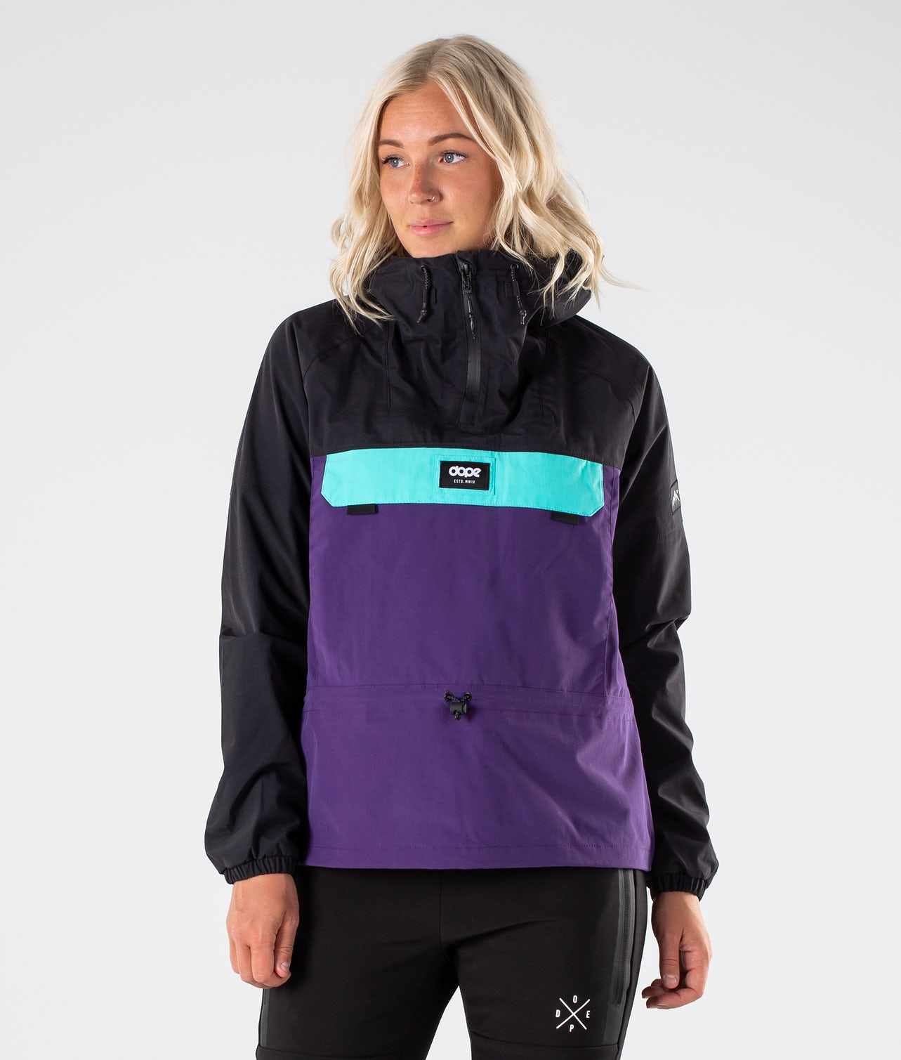 Dope Hiker 19 W Outdoor Jacka Black/Purple/Azure