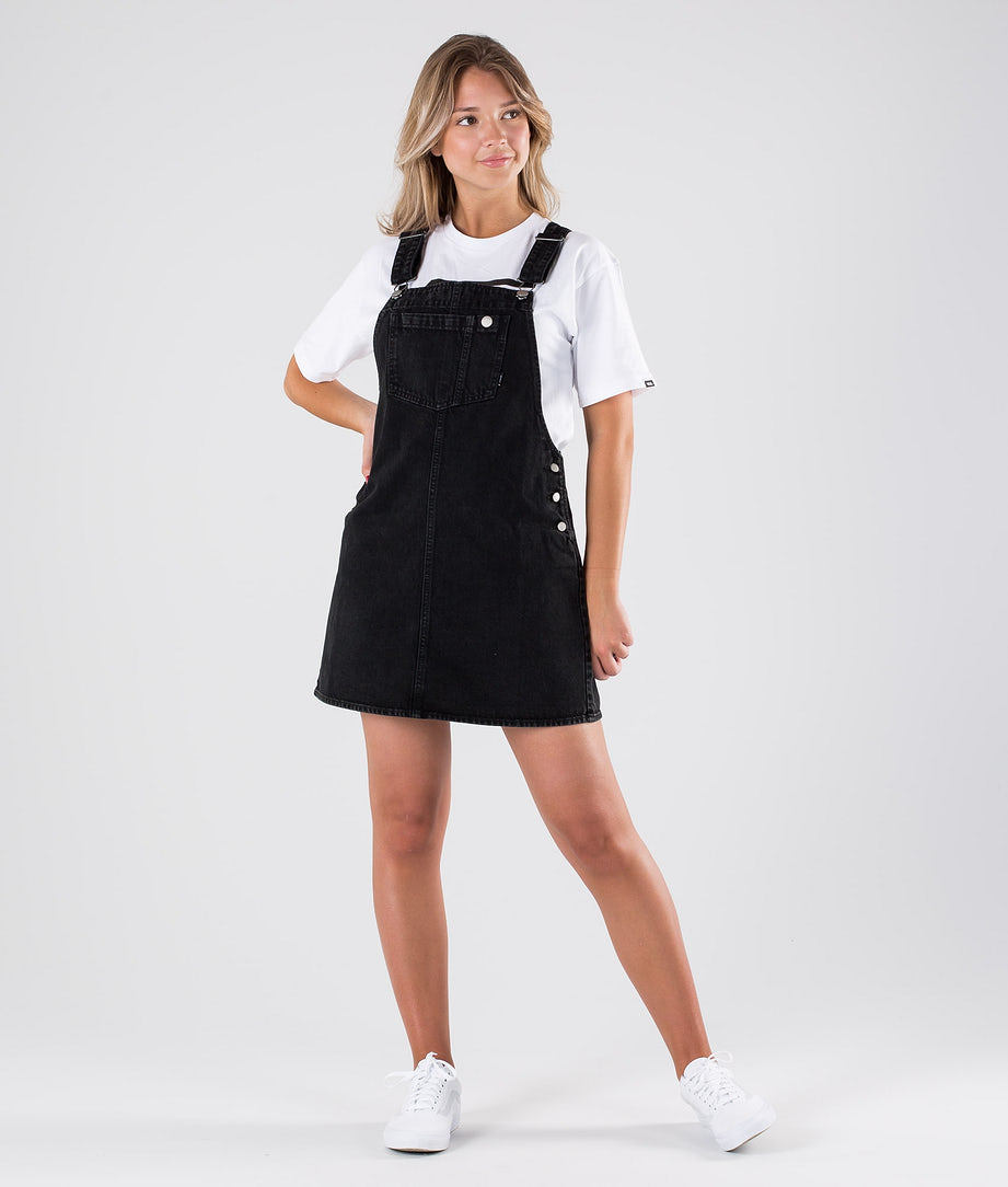 Dr Denim Eir Dungaree Dress Mekko Summer Camp Black