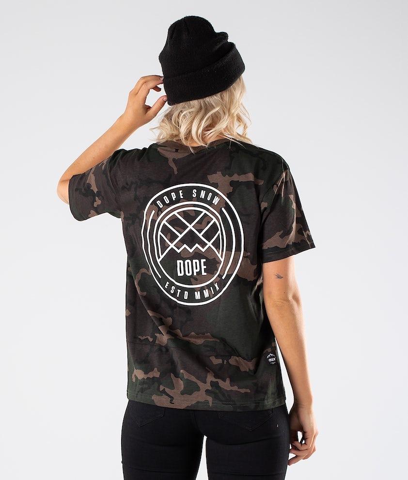 Dope Grand Lines T-shirt Woodcamo