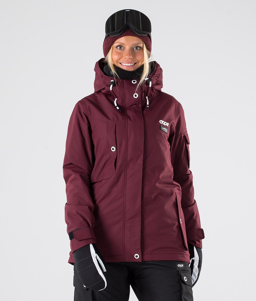 Dope Adept W Ski Jacket Burgundy