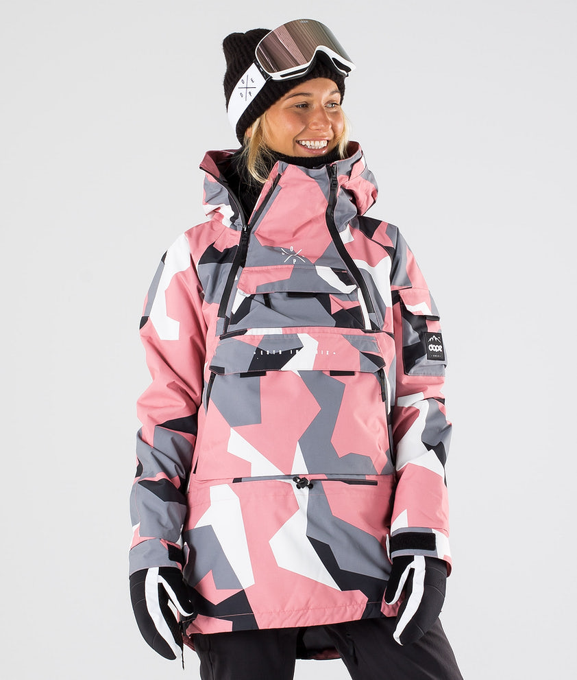 Dope Akin W Skijakke Pink Camo