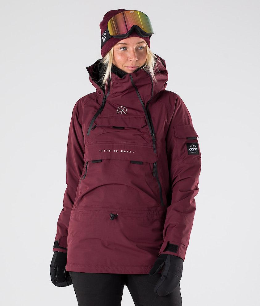 Dope Akin W Snowboardjakke Burgundy