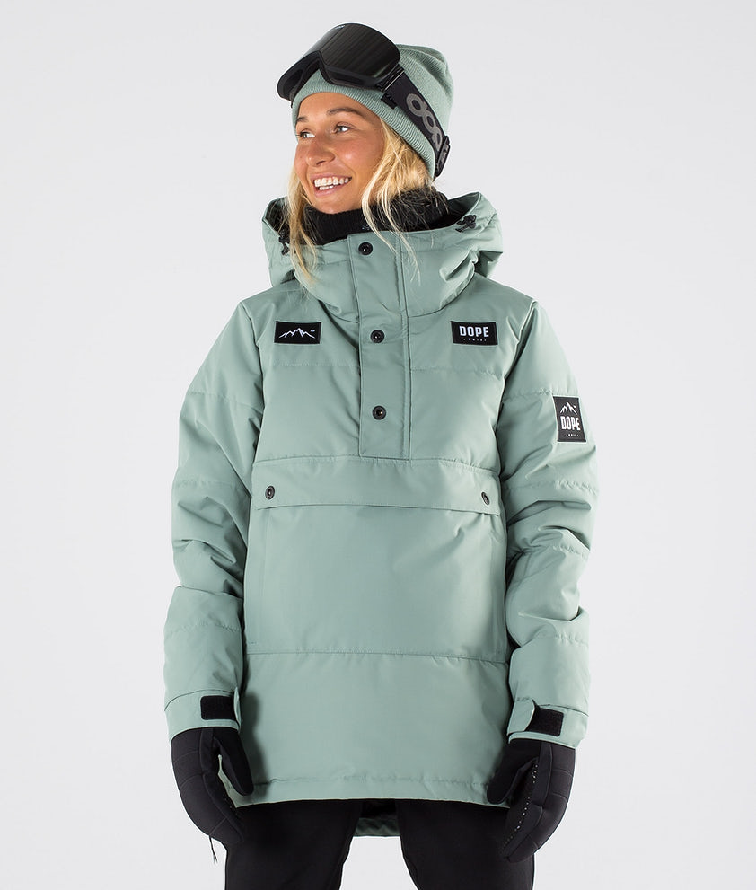 Dope Puffer W Skijakke Faded Green