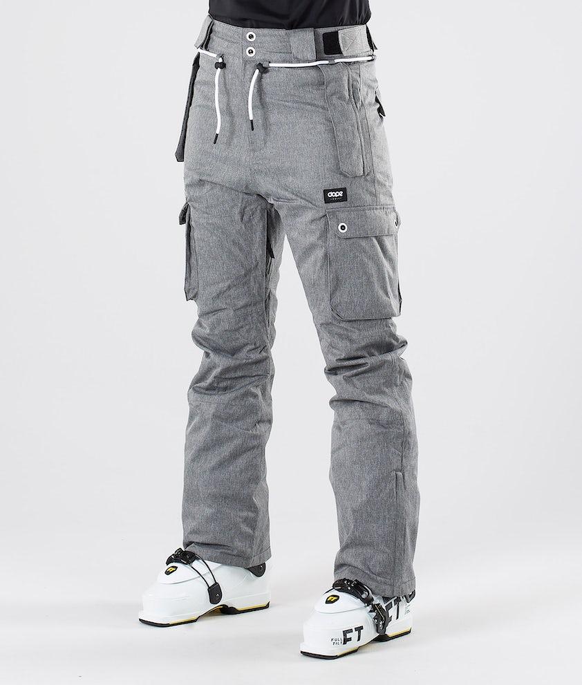 Dope Iconic W Pantalon de Ski Grey Melange