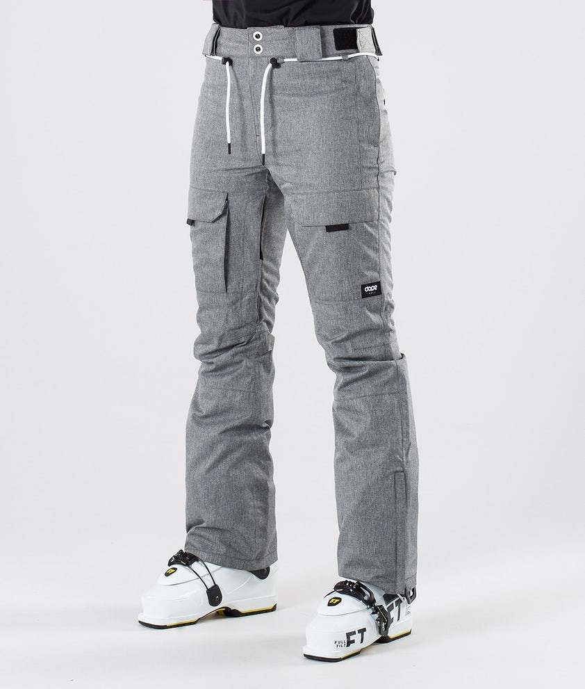 Dope Grace Ski Pants Grey Melange
