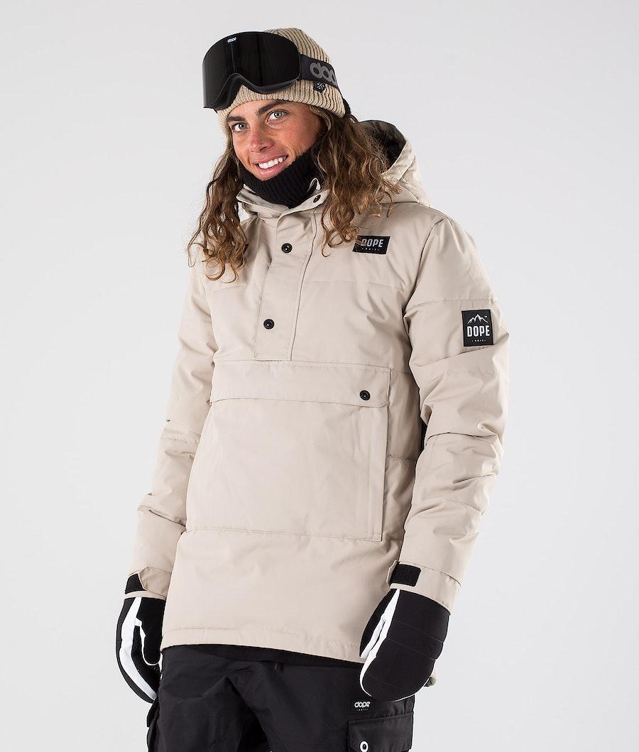 Dope Puffer Snowboard Jacket Sand