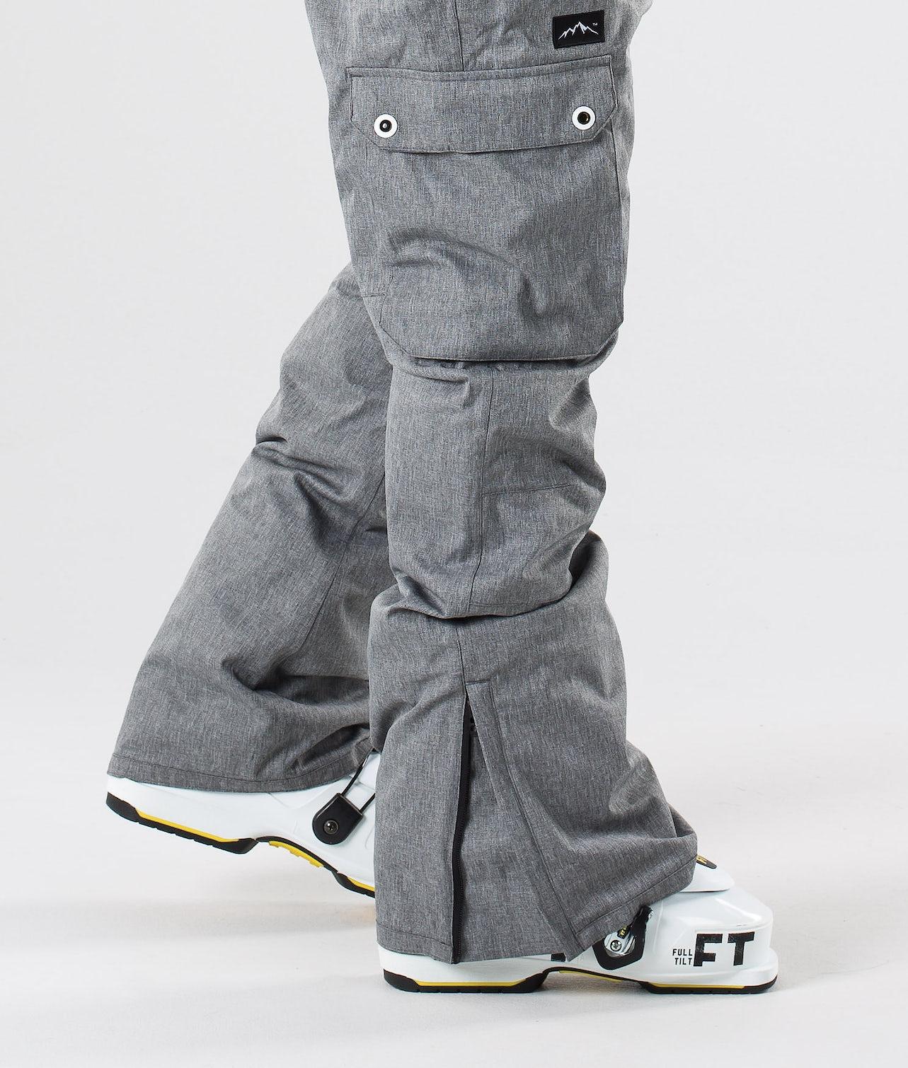 Dope Iconic Pantalon de Ski Grey Melange
