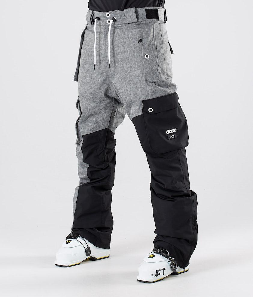 Dope Adept Skibukse Grey Melange/Black