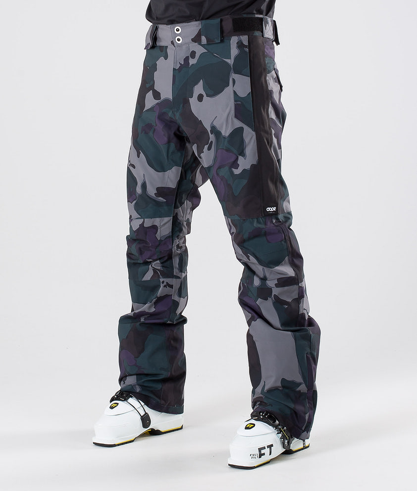 Dope Hoax II Ski Pants Grape Green Camo