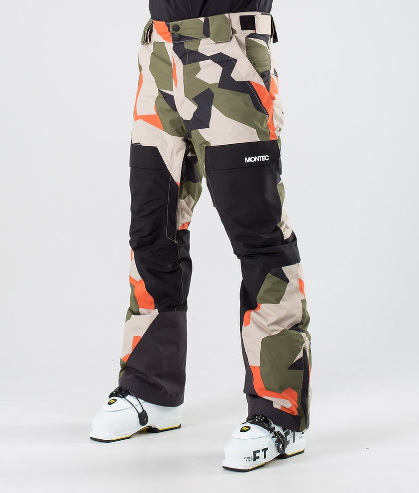 Montec Dune Ski Pants Orange Green Camo