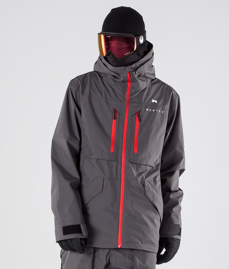 Montec Fenix Ski Jacket Pearl Fire/Red