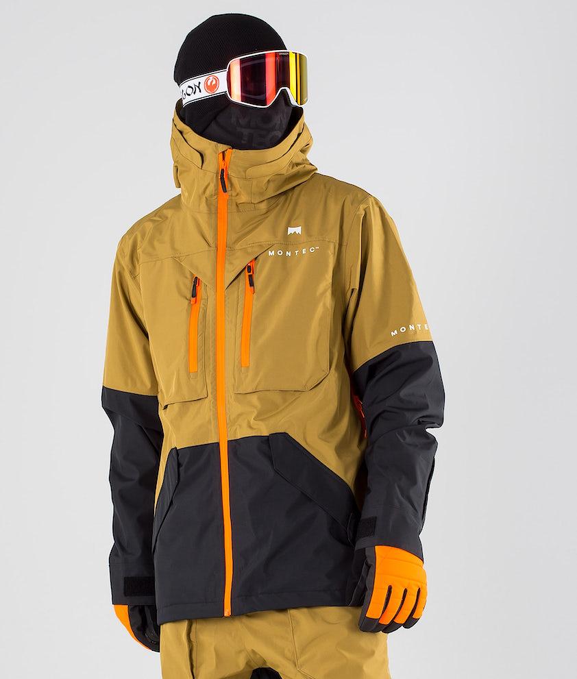 Montec Fenix Skijakke Gold/Black