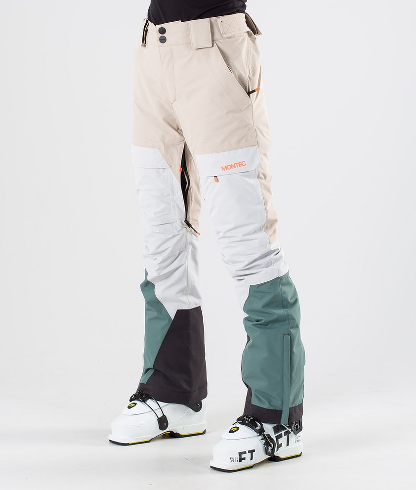 Montec Dune W Ski Pants Desert Light Grey Atlantic