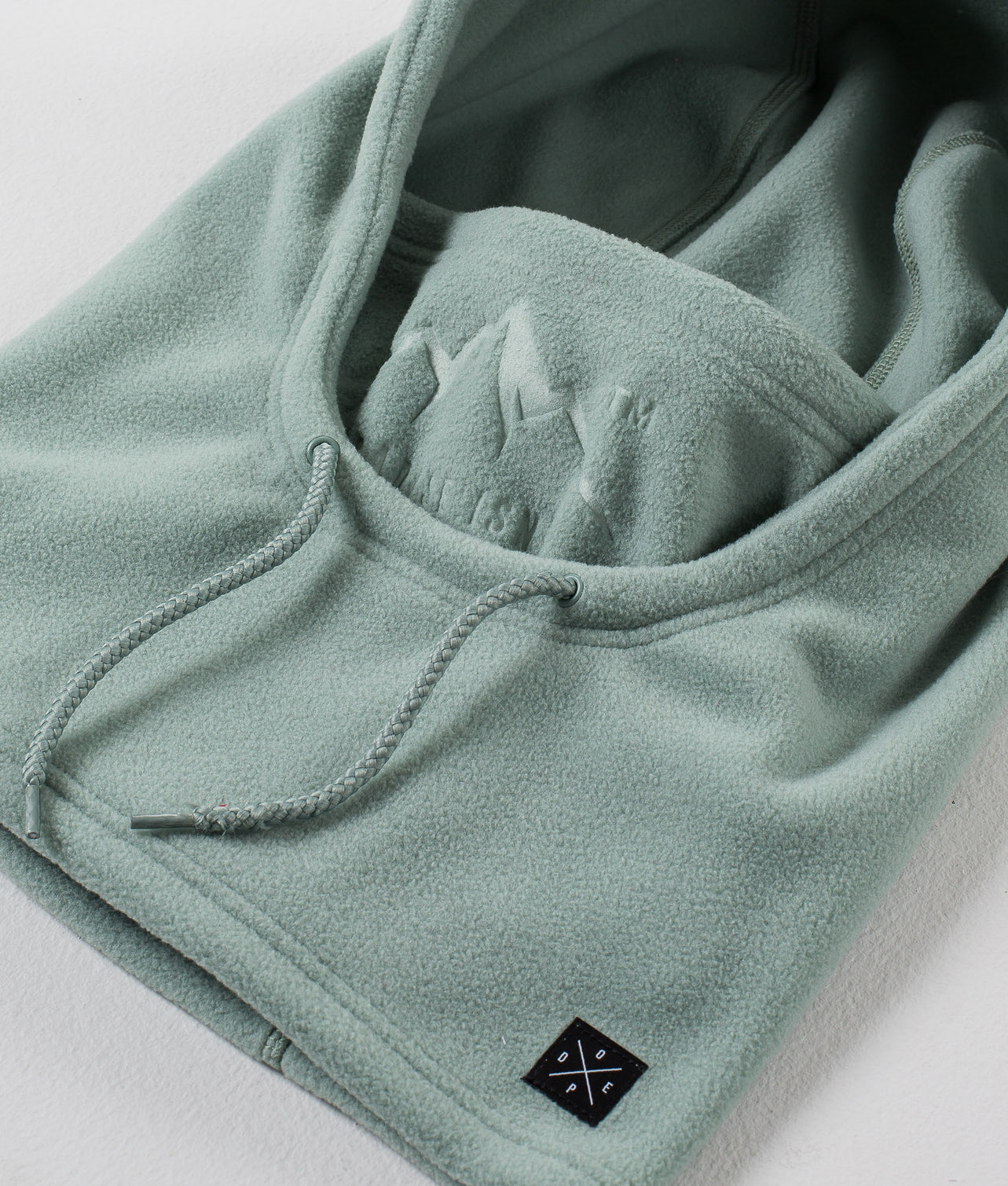 Dope Cozy Hood Facemask Faded Green