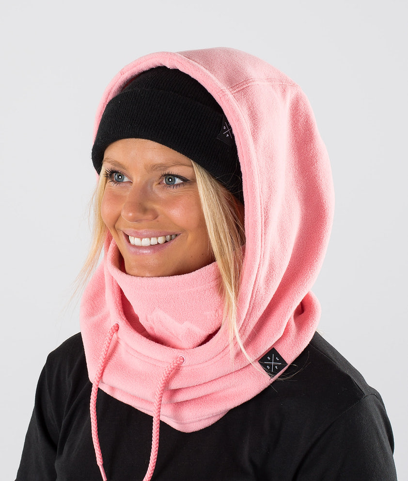 Dope Cozy Hood Facemask Pink