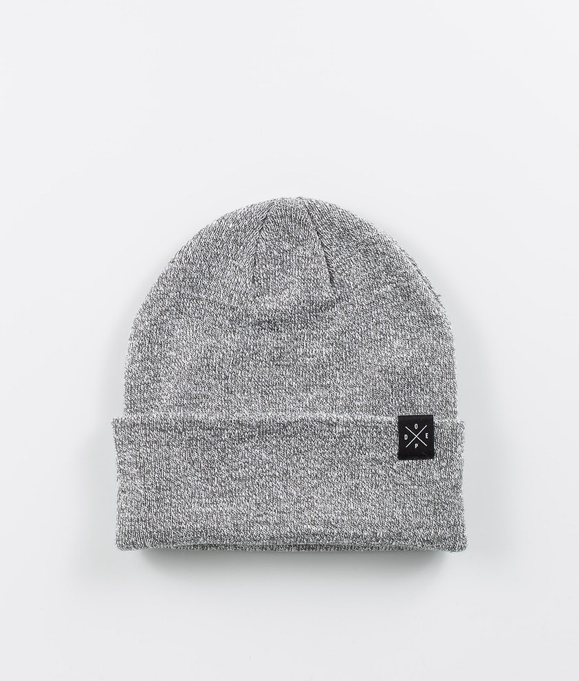 Dope Folded Solitude Beanie Grey Melange