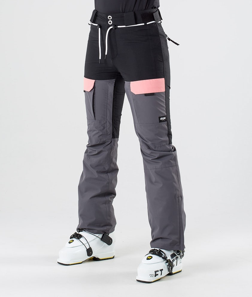 Dope Grace Ski Pants Black Pink Pearl