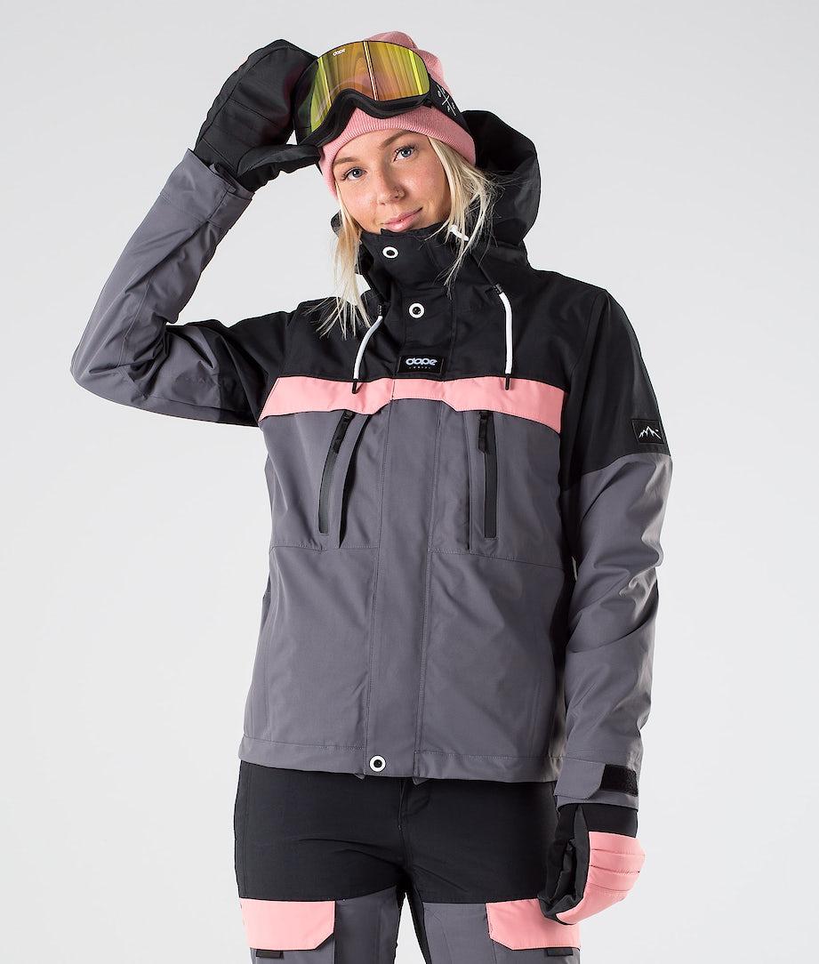 Dope Lunar W Snowboard Jacket Black Pink Pearl