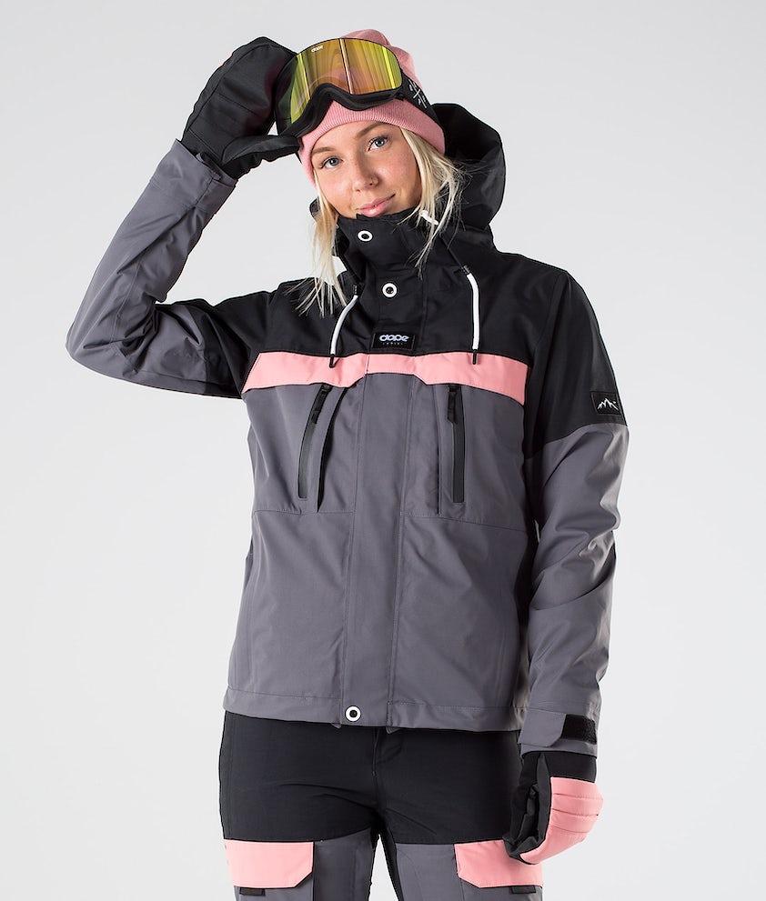 Dope Lunar W Snowboardjakke Black Pink Pearl