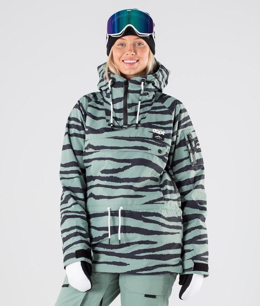 Dope Annok W Skijakke Green Zebra