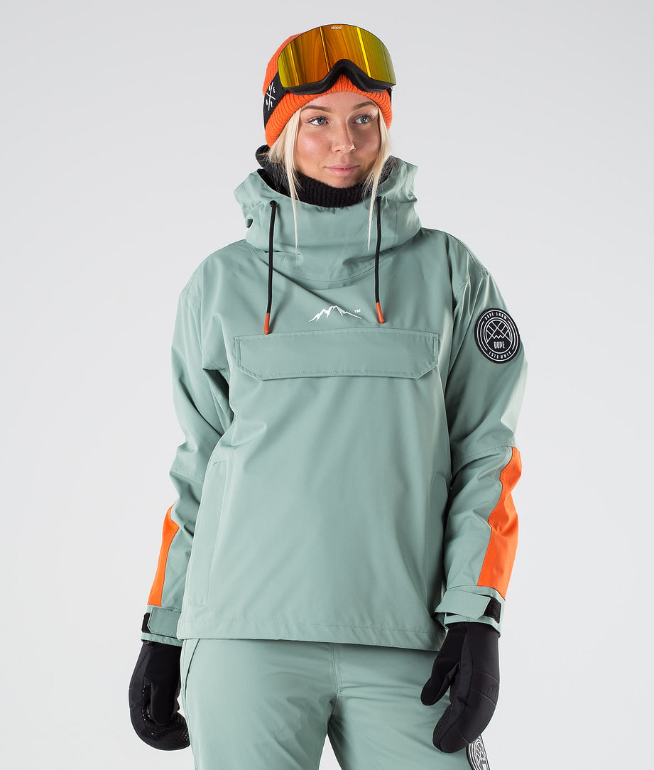 Dope Blizzard LE W Veste de Ski Faded Green Orange