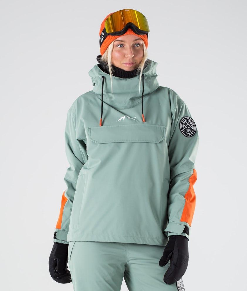 Dope Blizzard LE W Skijakke Faded Green Orange