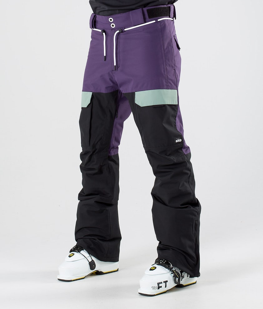 Dope Poise Pantaloni da sci Grape Faded Green Black