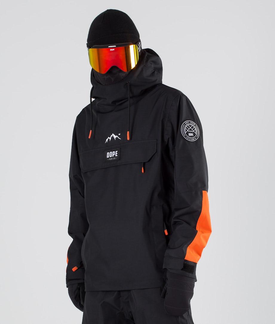 Dope Blizzard LE Ski Jacket Black Orange
