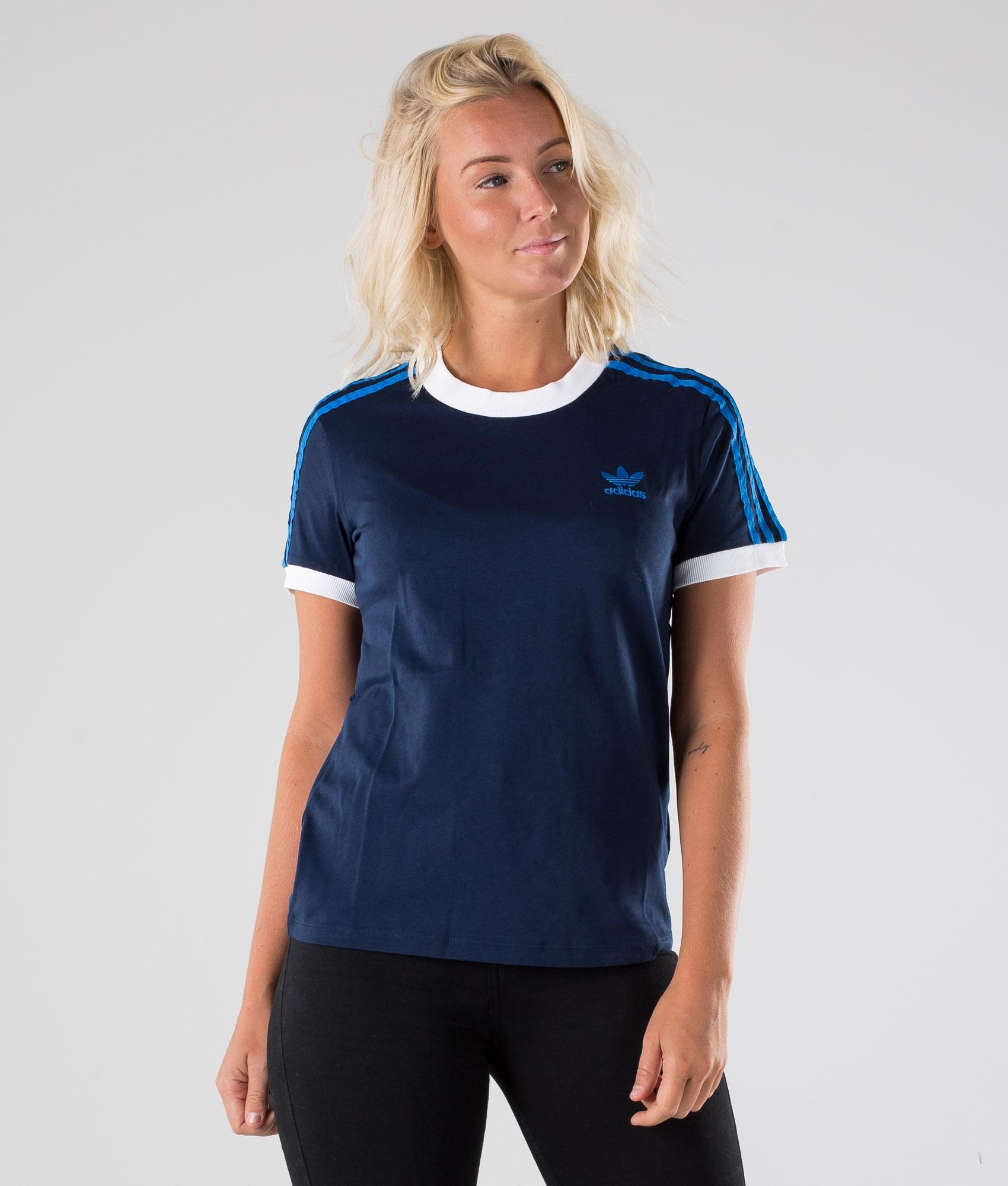 Adidas Originals 3 Stripes T shirt White Ridestore.se