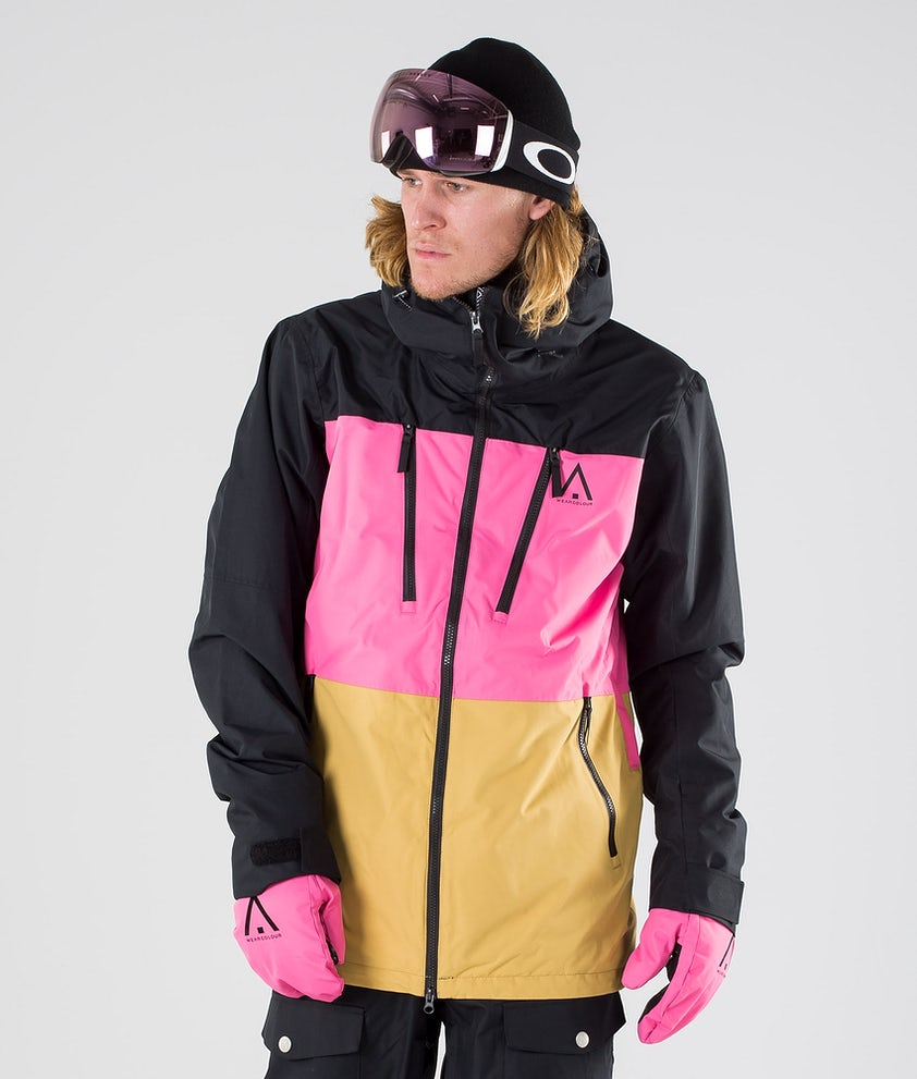 WearColour Grid Snowboard Jacket Black