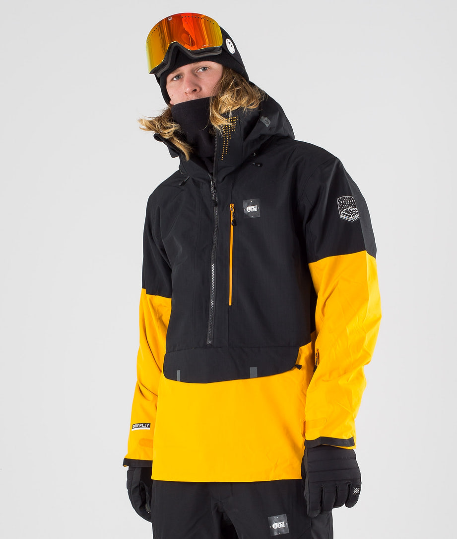 Picture Anton Veste de Ski Black Yellow