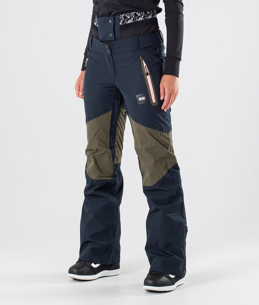 Picture Seen Snow Pants Dark Army Green