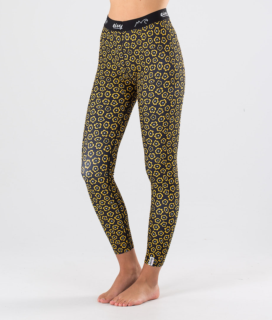Eivy Iceold Tights Pantalon thermique Yellow Flower