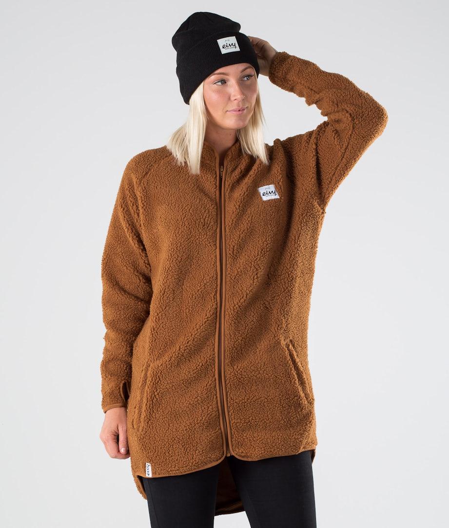 Eivy Redwood Sherpa Coat Jakke Rust