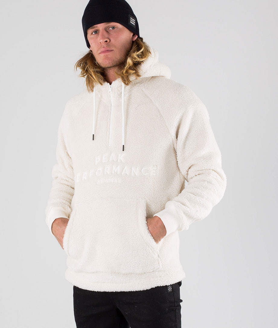 Peak Performance Original Pile Zip Huppari Offwhite