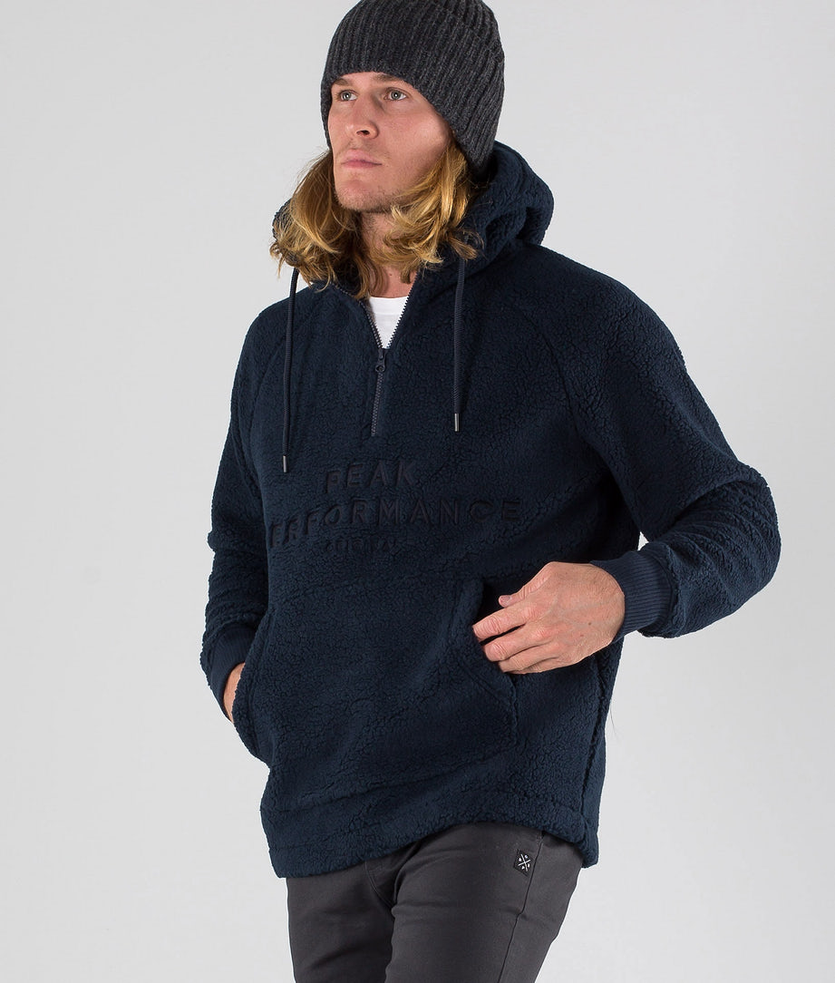 Peak Performance Original Pile Zip Hoodie Salute Blue