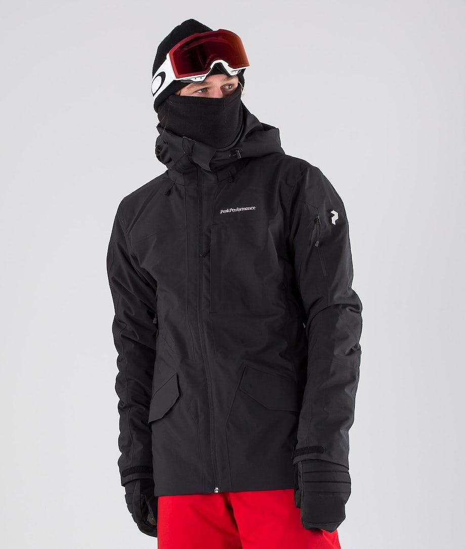Peak Performance Maroon Long Ski Jacket Black