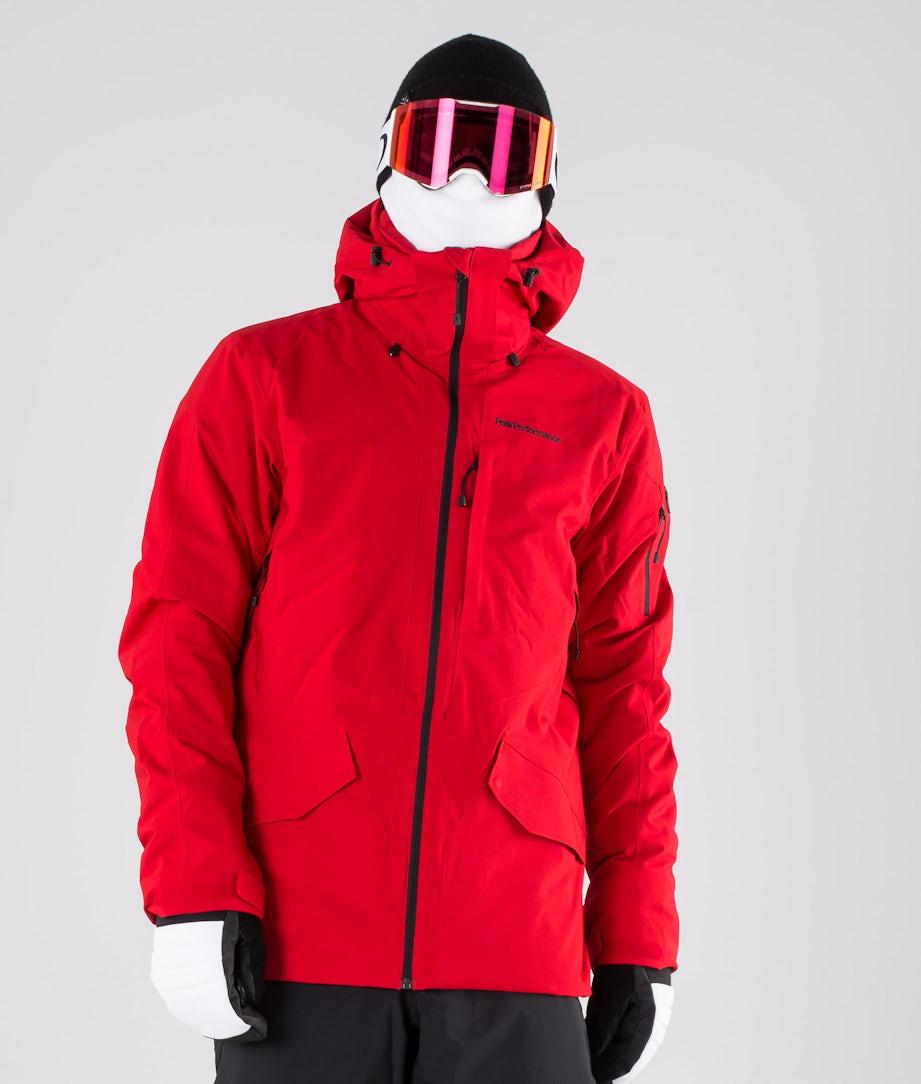 Peak Performance Maroon Long Ski Jacket Dark Chilli