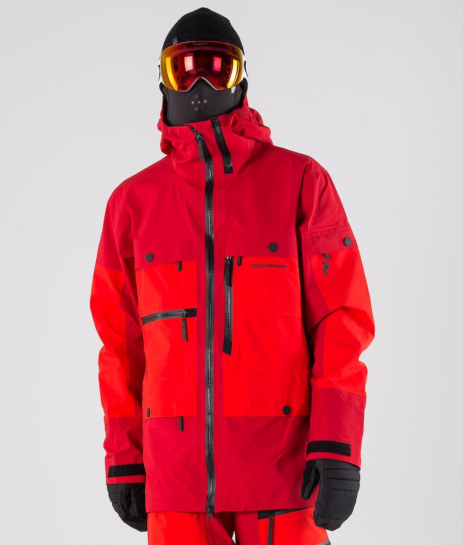 Peak Performance Vertical Ski Jacket Dark Chilli