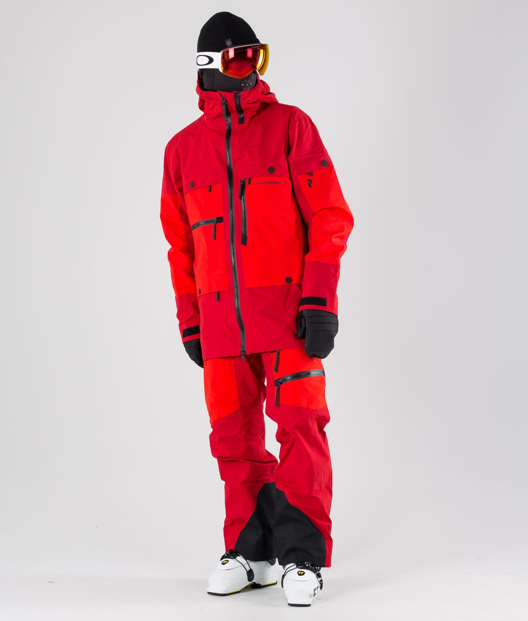 Peak Performance Vertical Skijakke Dark Chilli
