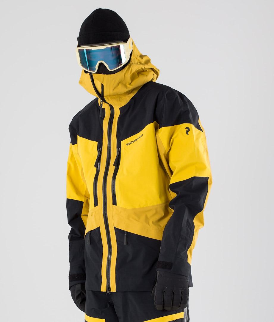 Peak Performance Gravity Ski Jacket Yellow Flow